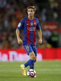 Sergi Samper of FC Barcelona during the Trofeu Joan Gamper match between FC Barcelona and UC Sampdoria on August 10, 2016 at the Camp Nou stadium in Barcelona, Spain.(Photo by VI Images via Getty Images)