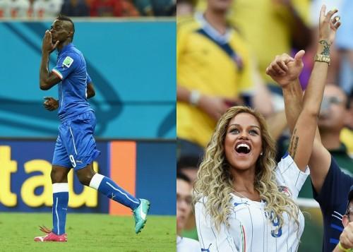 決勝点の伊代表FWバロテッリ、W杯初得点は「未来の妻に捧げる」
