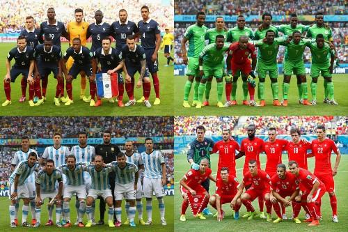 W杯ベスト16でフランス対ナイジェリア、アルゼンチン対スイスが決定