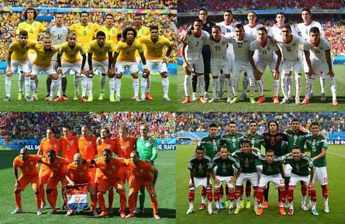 W杯決勝トーナメント1回戦でブラジル対チリ、オランダ対メキシコが決定