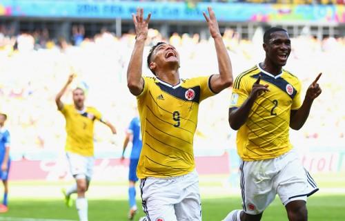 """""""2点目決めたコロンビア代表グティエレス「勝利はファルカオに捧ぐ」"""