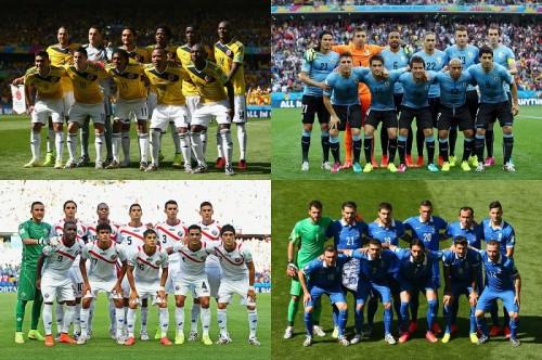W杯ベスト16でコロンビア対ウルグアイ、コスタリカ対ギリシャが決定