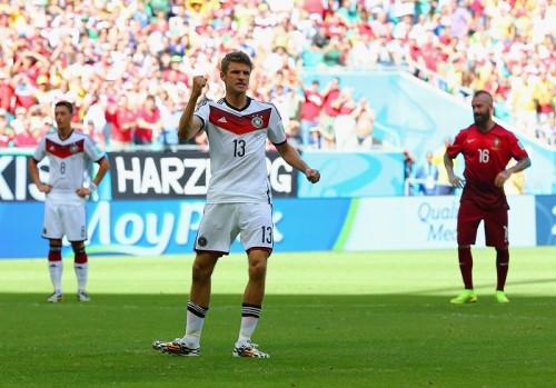 前回W杯得点王のドイツ代表ミュラー、今大会初のハットトリック達成