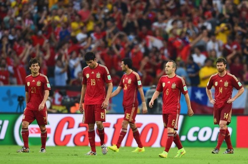 前回王者スペイン、W杯連覇の夢潰える…快勝のチリが決勝T進出決定