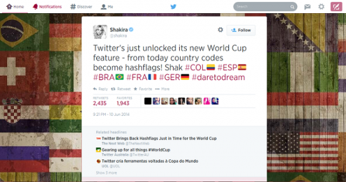 ツイッターがブラジル・ワールドカップをより盛り上げる新機能発表