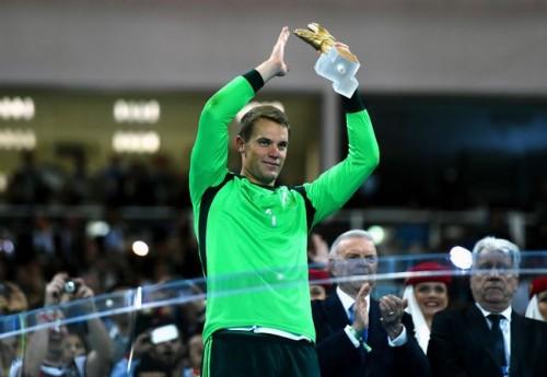 ドイツのノイアーが最優秀GKに…7試合4失点、堅守で優勝に貢献