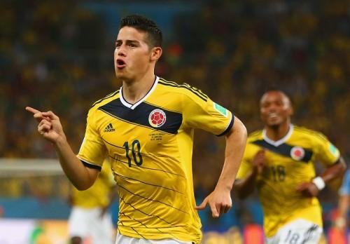 W杯得点王は6得点のコロンビア代表MFハメス・ロドリゲス