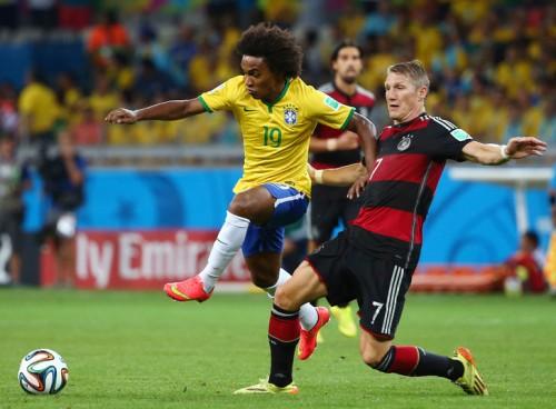 ブラジル代表を労うシュヴァインシュタイガー「少し悲しい」