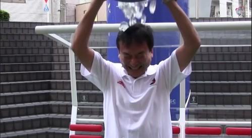 Jリーグの村井チェアマンも氷水をかぶる…サプライズで宮本恒靖氏を指名も