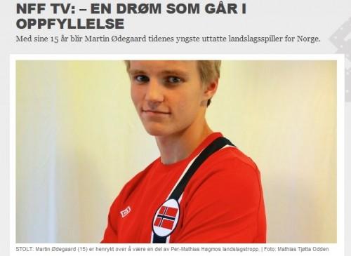 ノルウェー史上最年少、1998年生まれの15歳がフル代表に招集