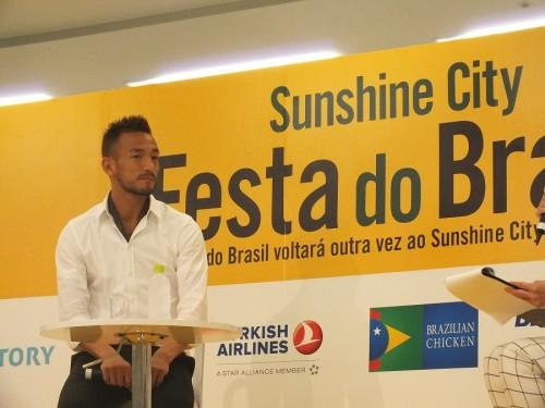 『フェスタ ド ブラジル』前夜祭に中田英寿氏が登場「サンバはジーコに誘われた」