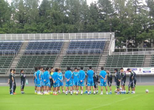 日本代表、アギーレ初陣のウルグアイ戦から一夜明けて練習を実施