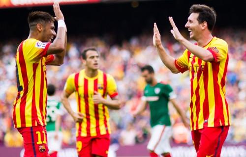 メッシのアシストでネイマールが2ゴール、バルセロナが開幕3連勝