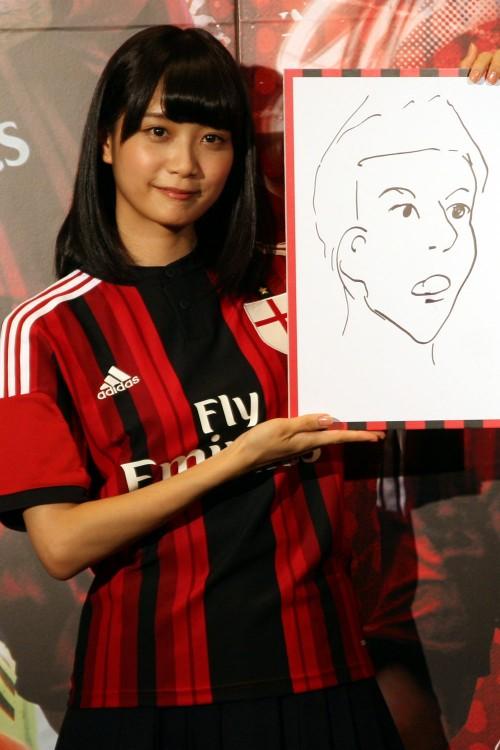乃木坂46の深川麻衣が本田圭佑の似顔絵に挑戦「似てなくてごめんなさい」