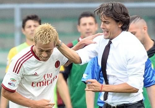 本田を称賛するインザーギ監督「今さら素晴らしいというのは簡単」