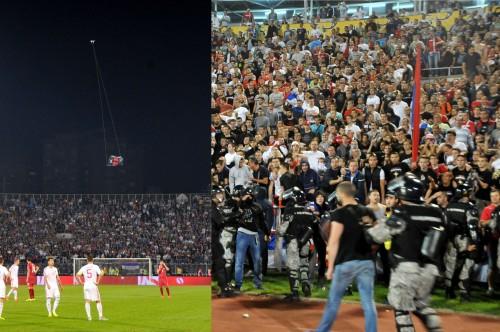 コソボ問題に揺れるセルビア対アルバニアが乱闘により没収試合に
