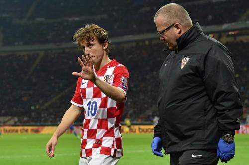 レアルのクロアチア代表モドリッチは腱断裂…6週間離脱の可能性も