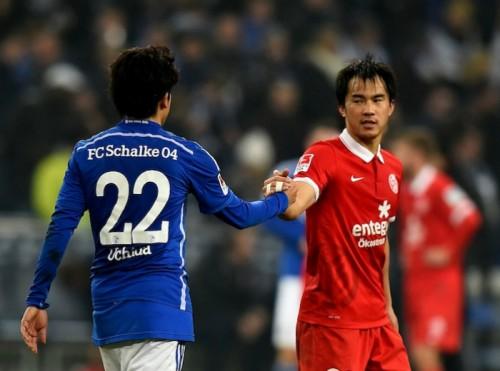 岡崎が今季7得点目決めるも、シャルケに大敗…内田は先制点の起点に