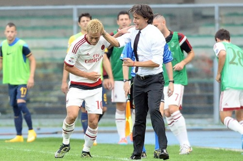 プロ選手としての本田を絶賛するインザーギ「生き方のお手本の一つ」
