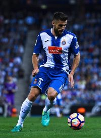 BARCELONA, SPAIN - SEPTEMBER 18:  David Lopez of RCD Espanyol runs with the ball during the La Liga match between RCD Espanyol and Real Madrid CF at the RCDE stadium on September 18, 2016 in Barcelona, Spain.  (Photo by David Ramos/Getty Images)