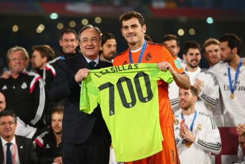 カシージャス、クラブW杯決勝でレアル700試合出場を達成