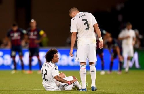 クラブW杯で負傷交代のレアルDFマルセロ、約3週間の離脱か