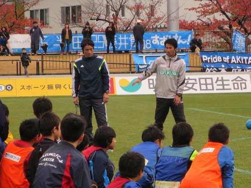 柱谷氏、宮本氏ら豪華コーチ陣によるサッカークリニックを初開催