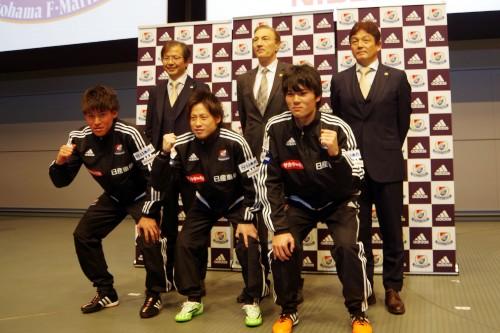 横浜FMが新体制発表…選手権を沸かせた中島賢星「このクラブに戻ってこられて幸せ」