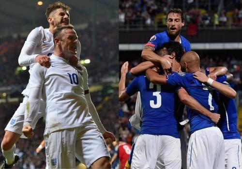 イタリア代表とイングランド代表が親善試合…ブラジルW杯の再戦