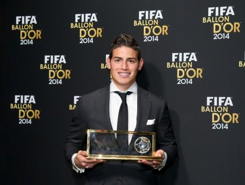 J・ロドリゲスの強烈ボレーがFIFA年間最優秀ゴール賞を受賞