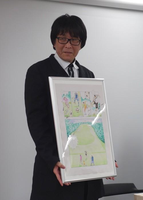 キャプ翼作者の高橋陽一氏、フットゴルフでホールインワン