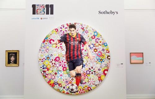 メッシと村上隆氏のコラボ作品がチャリティー競売で約5800万円に