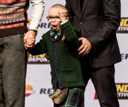 ダウン症の男の子が1月のスコットランド月間最優秀ゴール賞に輝く