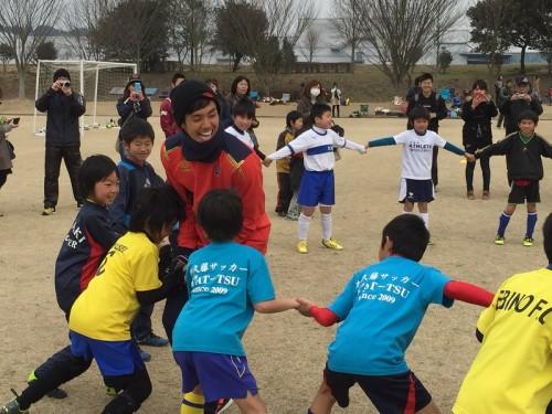 FC東京が宮崎でサッカー教室開催…武藤は子供と触れ合い「元気をもらった」