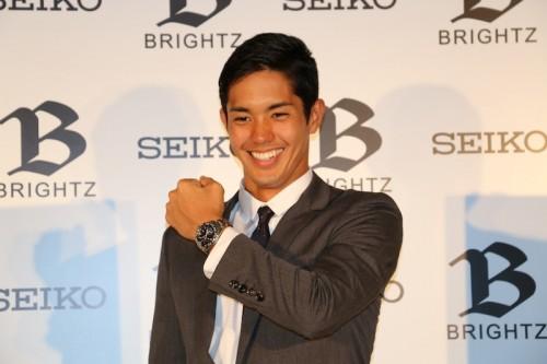 武藤がSEIKO ブライツの新キャラクターに就任…初の広告契約で終始緊張