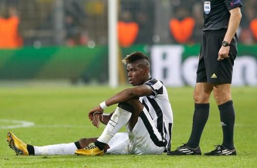 ポグバが肉離れで50日離脱…CL準々決勝とイタリア杯の出場は絶望的