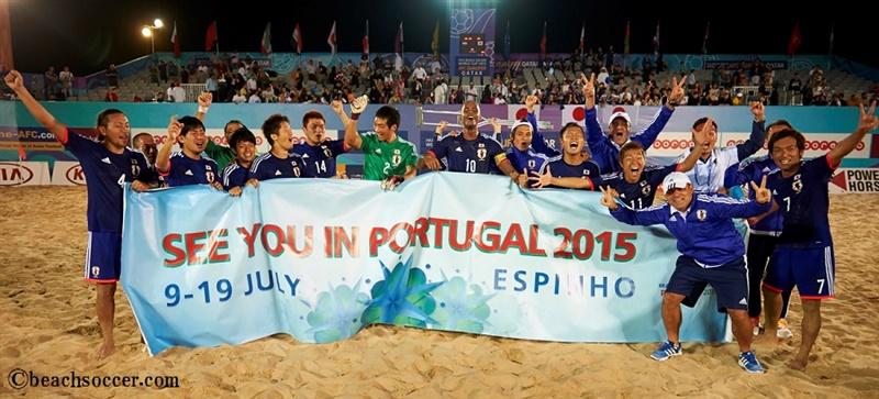 ビーチサッカー日本代表、W杯出場権を獲得…第1回から8大会連続出場