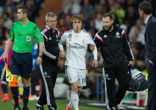 レアルに痛手、モドリッチがじん帯負傷で最大1カ月以上の離脱か