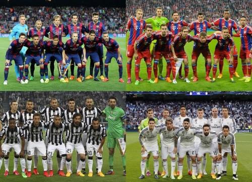 CLベスト4の組み合わせ決定…バルセロナとバイエルン、レアルとユーヴェが対戦