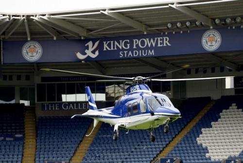 レスターの会長が仰天の行動…スタジアムにヘリを着陸させそのまま帰宅