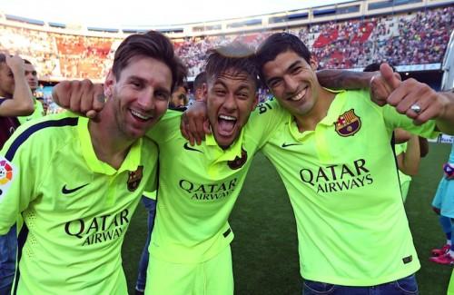"""バルサの""""MSN""""が今季120得点…スペインサッカー史上最高の3トップに"""
