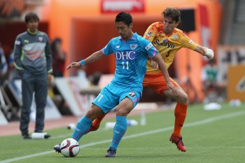 (EDITORIAL USE ONLY) xxx during the J.League match between Shimizu S-Pulse and Sagan Tosu at IAI Stadium Nihondaira on May 6, 2015 in Shizuoka, Japan.