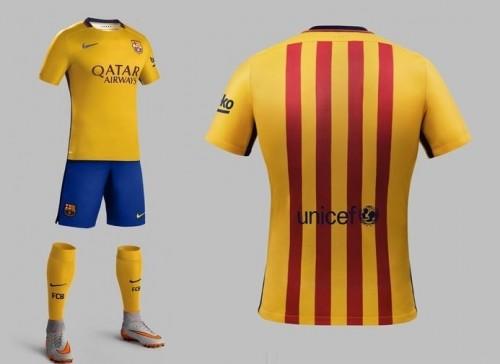 バルサが来シーズンのアウェーユニを発表…カタルーニャ旗をイメージ