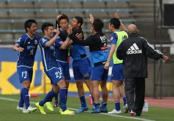 (EDITORIAL USE ONLY) xxx during the J.League match between Shimizu S-Pulse and Montedio Yamagata at IAI Stadium Nihondaira on April 29, 2015 in Shizuoka, Japan.