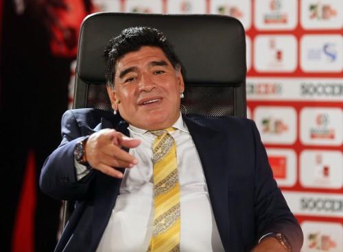 FIFA副会長目指すマラドーナ、会長選で「アリ王子が勝てばチャンス」