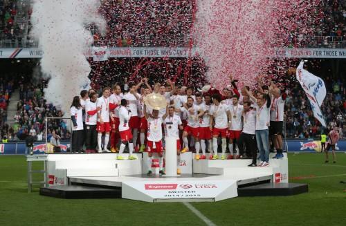 南野所属のザルツブルクが2年連続2冠達成…10人で延長戦制しカップ戦連覇