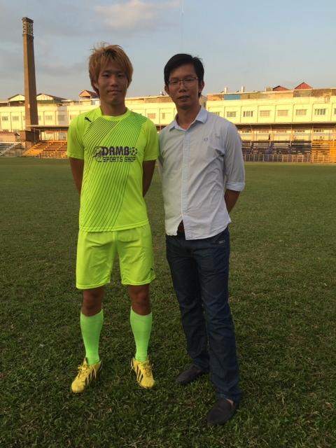 タイリーグでプレーしたDF柳舘卓がカンボジア1部リーグへ入団