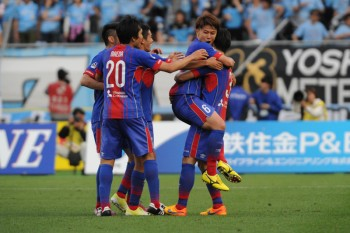 (EDITORIAL USE ONLY) xxx during the J.League match between FC Tokyo and Kawasaki Frontale at Ajinomoto Stadium on May 2, 2015 in Chofu, Tokyo, Japan.