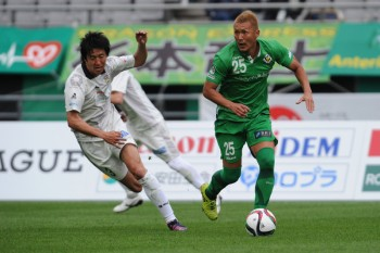 (EDITORIAL USE ONLY) xxx during the J.League second division match between Tokyo Verdy and FC Gifu at Ajinomoto Stadium on April 11, 2015 in Chofu, Tokyo, Japan.