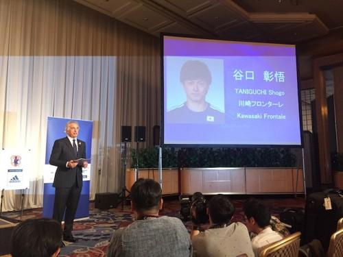 ハリルホジッチ監督、谷口の招集理由は「日本代表にはパワーが足りない」